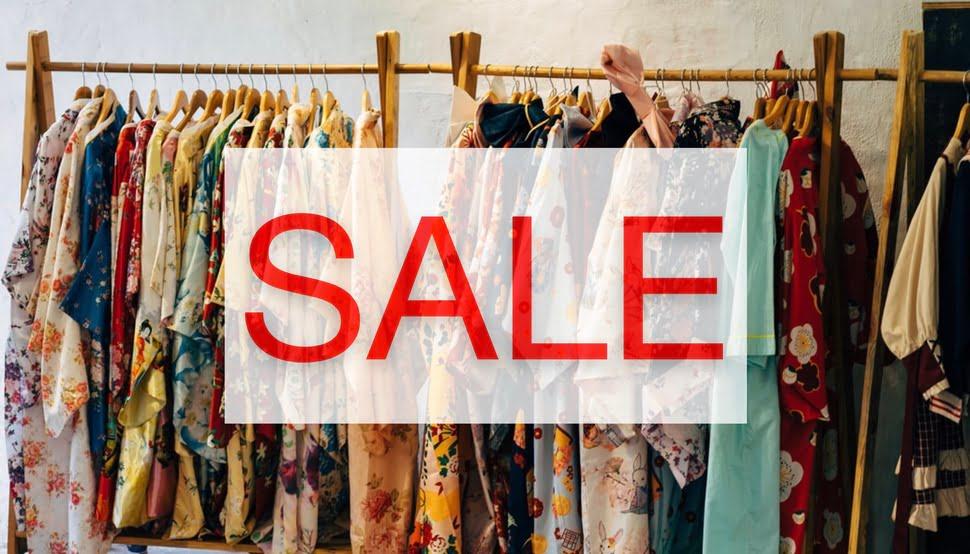 Финальная распродажа большого ассортимента одежды